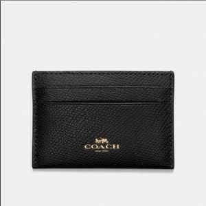 COACH | Black Leather Card Case NWT